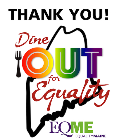 Dine OUT for Equality Thank You logo